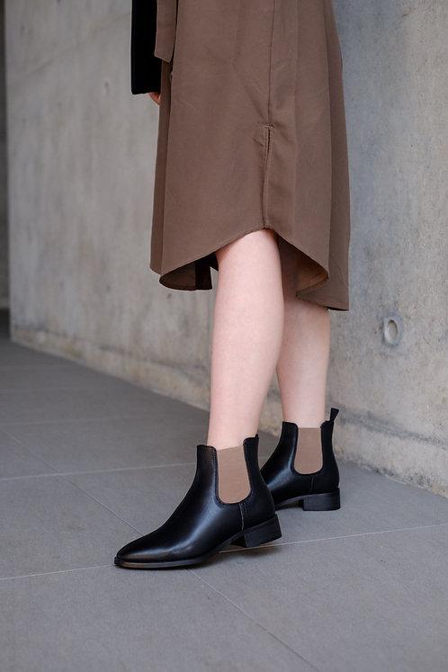Karl Chelsea Boot Calfskin Black Contrast Rubberband