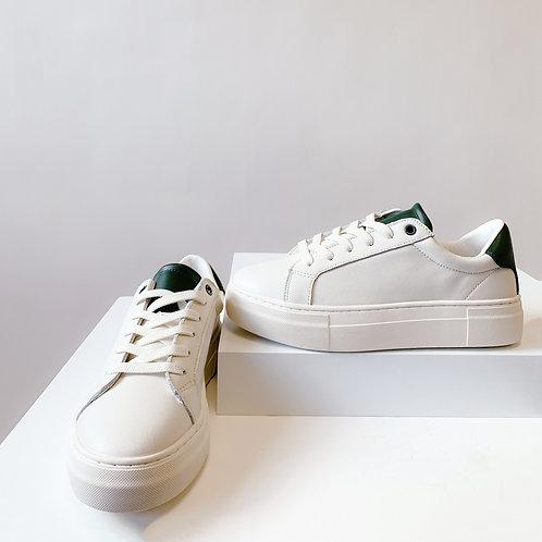 Korlà Sneaker - Off White W/ Green