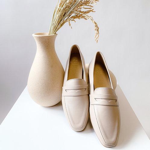 Kenni II Leather Loafers Beige