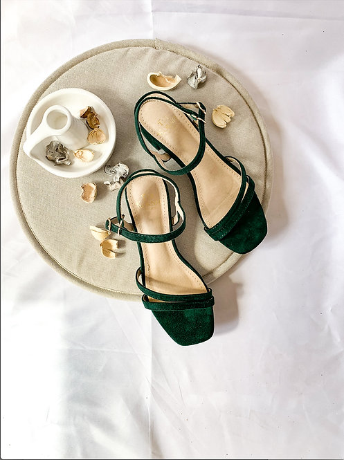 Kasual Heels - Dark Green