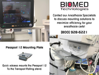 Anesthesia cart mounting solutions