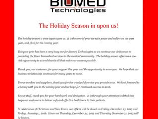 2015 Holiday Season Message