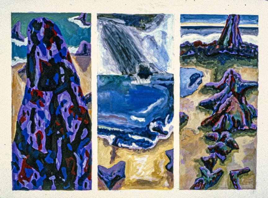 trilogy 2 1984 18x24 casein on paper (2)