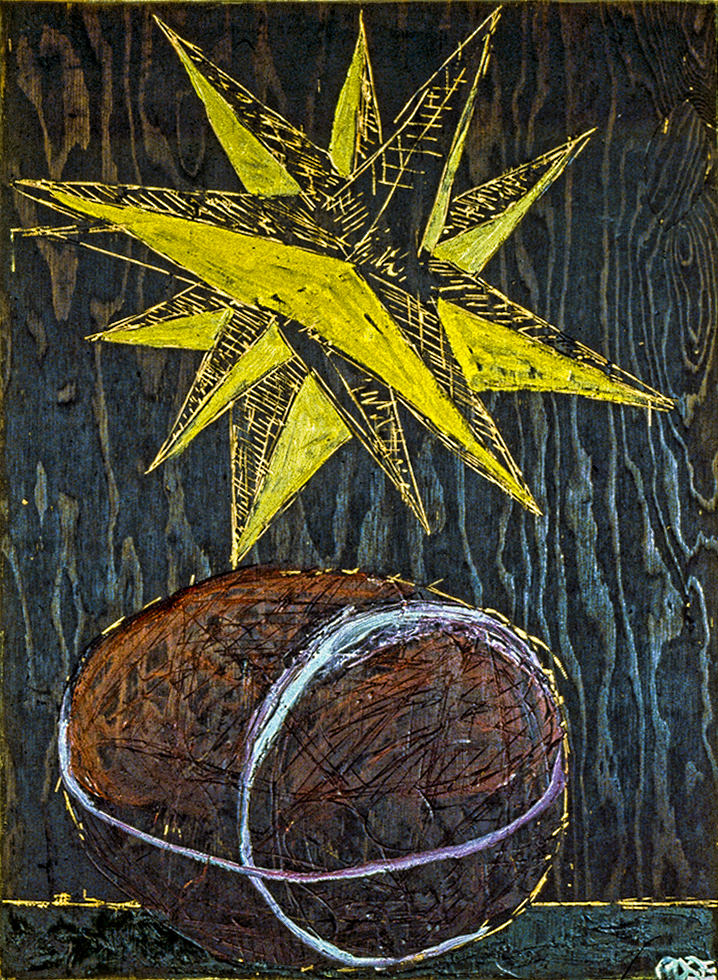 1989STAR THIEF 2  1989 36X24 PAINT ON WOOD