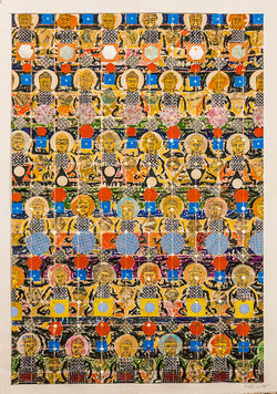 Golden Buddhas 38.5 x 27