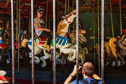 CP boy on carousel