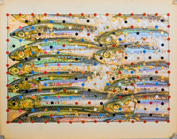 Memento Mori  mackerel 11.25 x 14.25