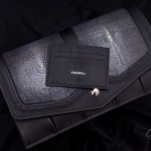 Singray and goatskin Knife pouch with matching wallet