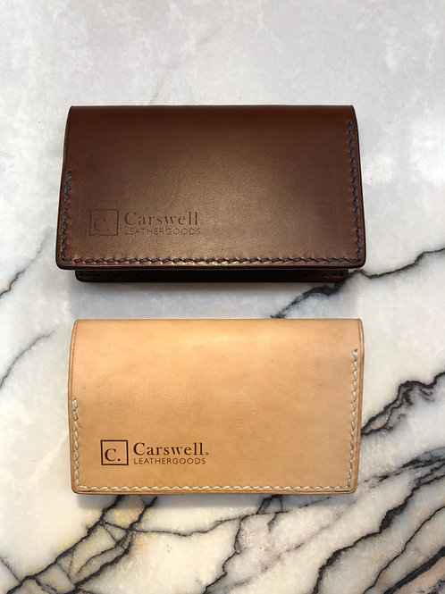 Bifold wallet in vegetable tanned leather
