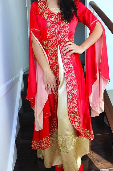 Henna Dress and Cape Set
