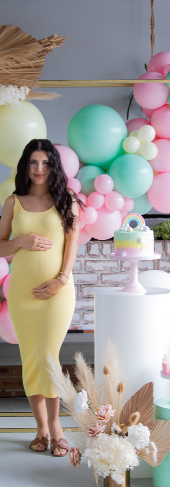 Pastel colours make this baby shower that much sweeter.
