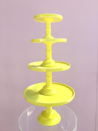 Yellow Cake Stands