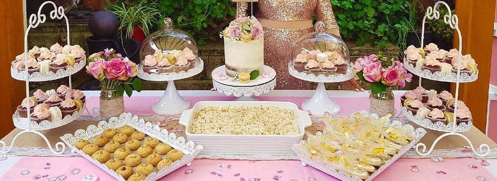 Set of Ornate White Cake Stands