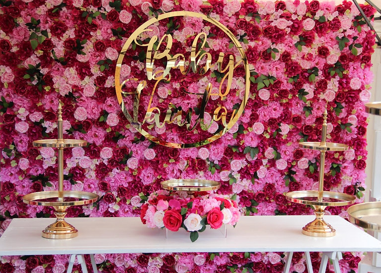 Vibrant Pink Flower Wall