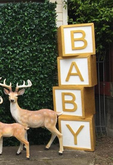 Gold BABY Blocks