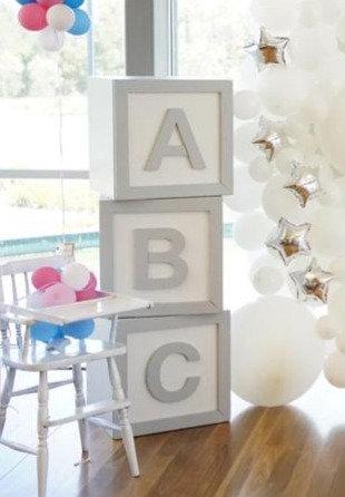 Silver ABC Blocks