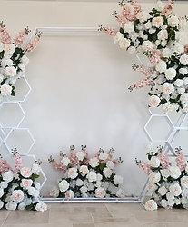 White Hexagon Arch
