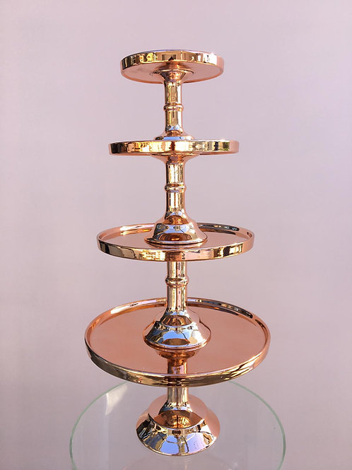 Rose Gold Cake Stands