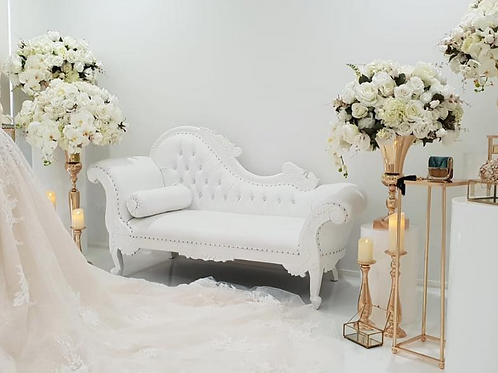 Queen White Chaise
