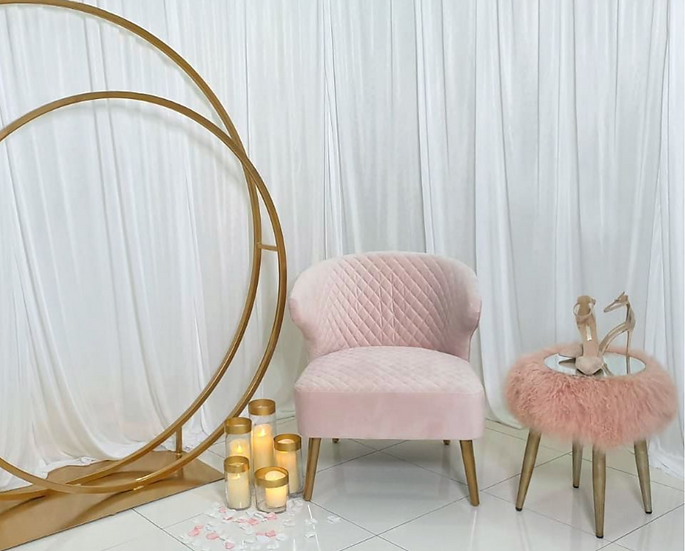 Blush Quilted Seat
