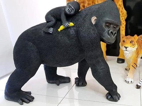 Baby and Gorilla