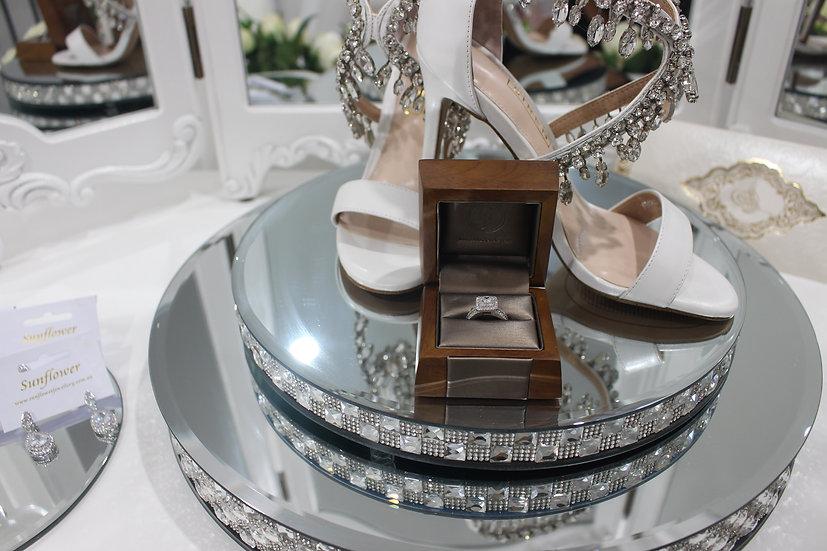 Diamond Mirror Plates Set