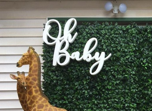 'Oh Baby' Foam Sign