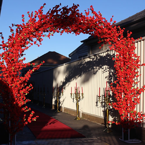 Red Cherry Blossom Arch