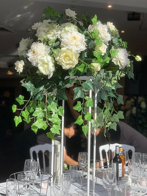 White Pillar Centrepieces