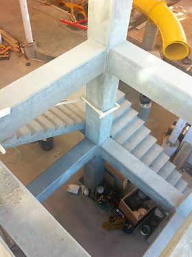 Concrete Tower.jpeg, Arhcitectural Concrete, Concrete Chamfer edges, Suspended concrete stairs, Concrete Tower, waterslide tower