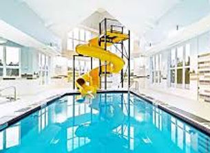 Super Squirt Waterslide, Yellow, Holiday Inn Express Newfoundland Pool Area