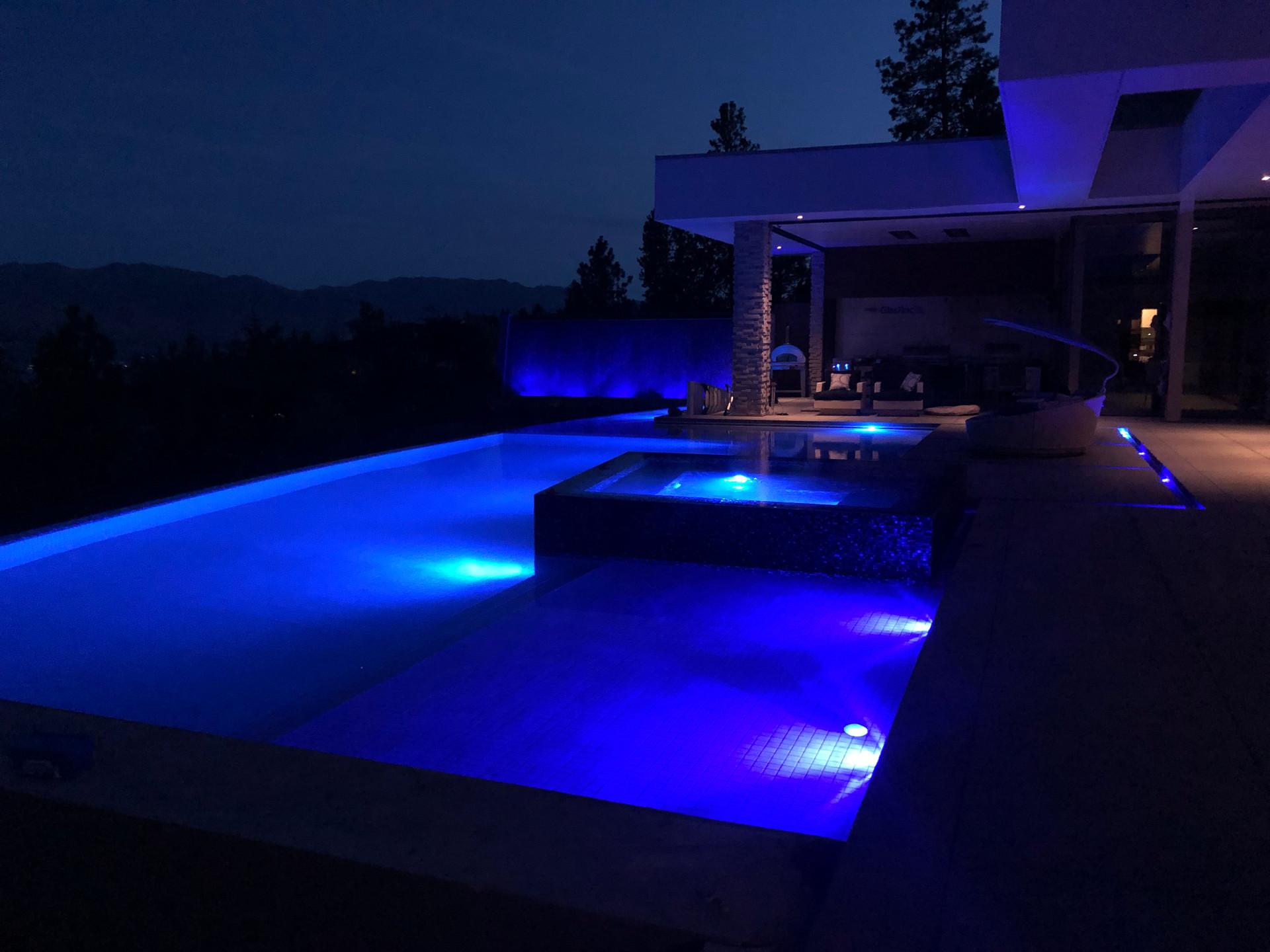 Negative Edge Pool Lighting