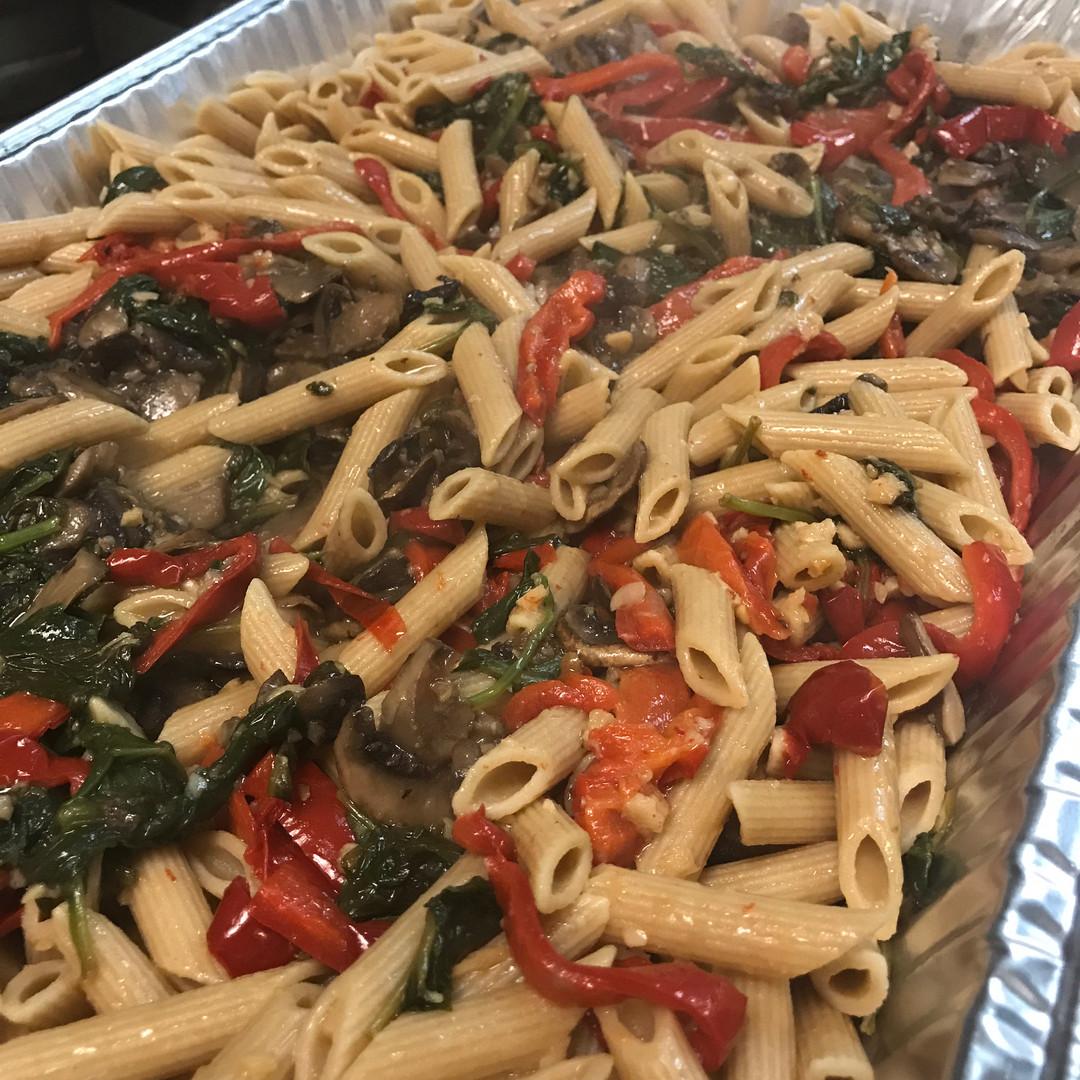 boca-catering-pasta-spinach-italian