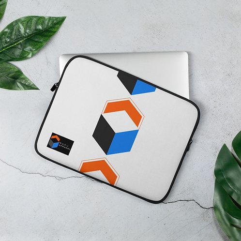 M.A.C.J Apparel White Laptop Sleeve (Vertical Pattern)