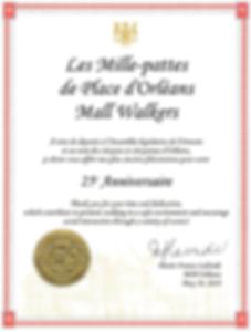 Certificat de Marie France Lalonde pour