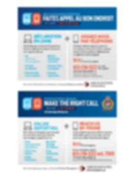 Make the right call - Service de police
