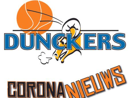 Nederland langer in lockdown: geen basketbalactiviteiten t/m 9 februari 2021