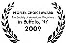 People's choice award at the society of American Magicians in 2009