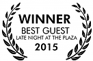 best guest award at Late night at the plaza
