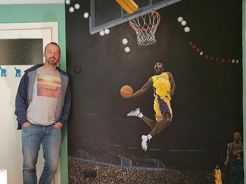 Mural of Kobe Bryant