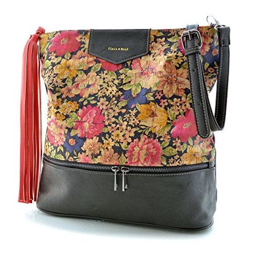 Pixie Mood Floral Cork Bucket Bag