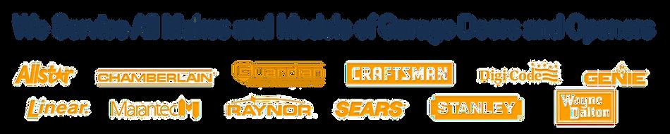 We repair all makes and models for garage door and garage door openers