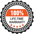 100% life time warranty garage doors