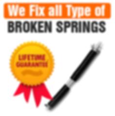 we fix all garage door springs