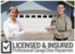 licensed and insured garage door company