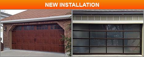 glass garage door panels