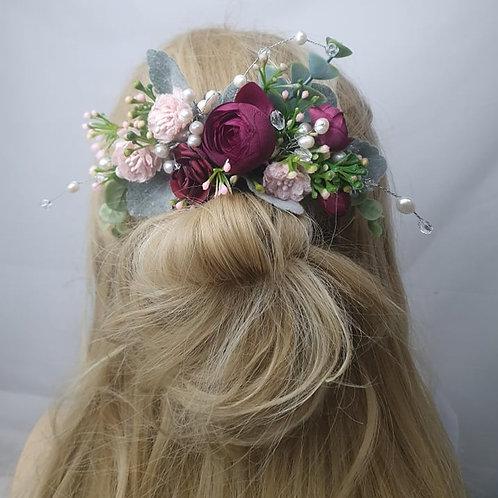 Ranunculus Spray Hair Comb