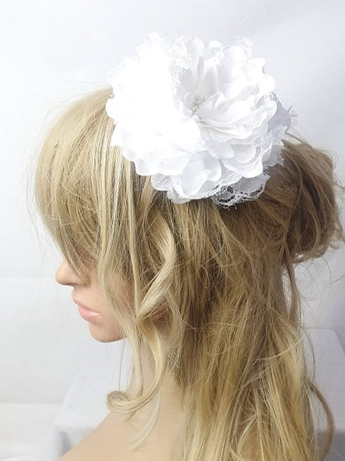 White Lace Flower Head Band