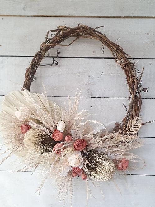 Whispery Palms Wreath