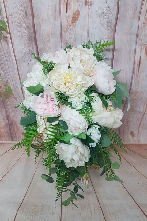 Peony Roses with Casscading Greenery
